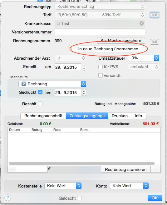 Rechnung Aus Kostenvoranschlag Tomedo Nutzerforum