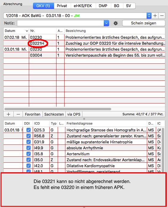 Abrechnungsfehler: Vorschlag für Chronikerziffern (KV) - tomedo ...