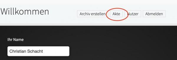 Akte-Button