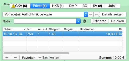 Rechnungsmuster bearbeiten - tomedo-Nutzerforum