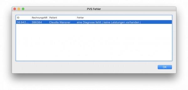 Privatabrechnung Keine Pad Datei Erstellt Da 1 Fehlerhafte